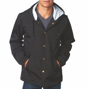 Independent Trading Company Water Resistant Hooded Windbreaker Coaches Jacket